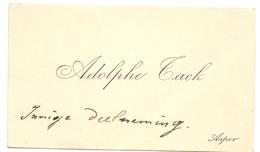 Visitekaartje - Carte Visite - Adolf Tack - Asper - Cartes De Visite