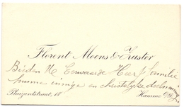 Visitekaartje - Carte Visite - Florent Moens & Zuster - Hamme - Visiting Cards