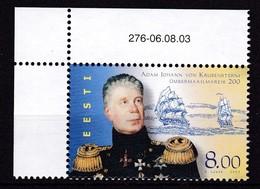 2003, EESTI, 466, Erdumsegelung Durch Adam Johann Von Krusenstern.  MNH - Estonie