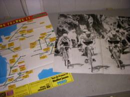 CYCLISME CARTE TOUR De FRANCE 1977 MIROIR Du CYCLISME Au Dos THEVENET MERCKX - Sport