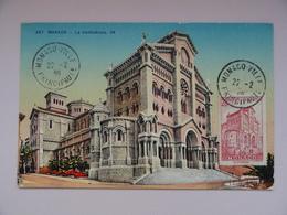 CARTE MAXIMUM CARD LA CATHEDRALE DE  MONACO - Monaco