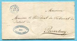 Faltbrief Von Bern Nach Porrentruy 1857 - ...-1845 Préphilatélie