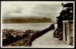 Ref 1262 - Real Photo Postcard - Haulfre Gardens Entrance & West Shore Llandudno Wales - Caernarvonshire