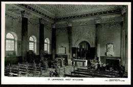 Ref 1262 - Real Photo Postcard - St Lawrence Church Interior - West Wycombe Buckinghamshire - Buckinghamshire