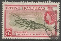 British Honduras. 1953-62 QEII. 5c Used P13½ SG 183 - British Honduras (...-1970)