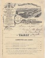 Facture Tarifs 20/6/1906  CHARDIGNY THEVENET Tapis Végétaux MÂCON Saône Et Loire - France