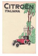 CARTOLINA POSTALE  CITROEN ITALIANA - Pubblicitari