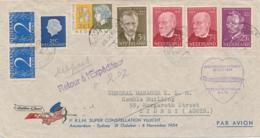 Nederland - 1954 - Pijper, Berlage En Van Gogh Op Speciale KLM Vlucht Amsterdam - Sydney En Retour Naar Paramaribo - Periode 1949-1980 (Juliana)