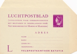 Nederland - 1947 - 10 Cent Konijnenburg, Militair Luchtpostblad G1a - Voor Land- En Luchtmacht - Ongebruikt - Postwaardestukken