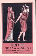 """Théatre Du Jorat Suisse, """"Orphée"""" Opéra De Gluck, Litho Par J. Morax (36) - Théâtre"""