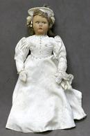 Giocattoli - Bambole Antiche - Bambola D'epoca Con Vestito In Raso - Anni '40 - Andere Verzamelingen