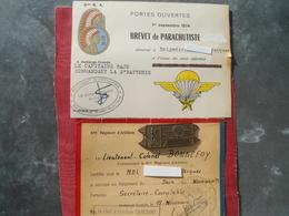 Souvenirs Appelé 1975 Parachutiste - Army & War