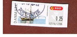 DANIMARCA (DENMARK)  -   MI  L39  -  2007 ATM: STORSTROM BRIDGE, SHIP   -   USED ° - ATM/Frama Labels