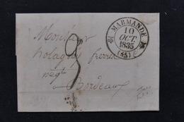 FRANCE - Lettre De Marmande Pour Bordeaux En 1835 - L 21206 - 1801-1848: Precursors XIX