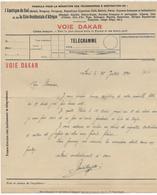 1920 - FORMULE TELEGRAMME à DESTINATION De L'AMERIQUE Du SUD Ou De L'AOF - CABLES FRANCAIS VOIE DAKAR (SENEGAL) - Marcophilie (Lettres)