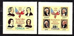 Tonga 2 Surcharged Self-adhesives MNN 1976 (245) - Tonga (1970-...)