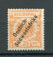 Kolonie Deutsch Südwestafrika Mi Nr. 9* - Katalogpreis 420 Euro - Colonie: Afrique Sud-Occidentale