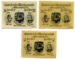 Austria, Oberndorf An Der Salzach (Salzburg) Notgeld 10, 20, 50 Heller - Autriche