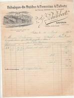 Facture Illustrée 14/3/1908 PHILIBERT Brides Et Coussins à Sabots  AUTUN Saône Et Loire à Delairain Chatel De Neuve - France