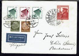 ALLEMAGNE - 1939 - Affranchissement Varié Sur Enveloppe Par Avion De Linz Vers Thur (Suisse) B/TB - - Allemagne