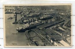 Southampton Docks 1920s White Star Dock With Cunard Line RMS Mauretania United States Line Leviathan Photo - Paquebots