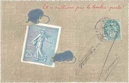 Cpa Fantaisie : Et N'oublions Pas Le Timbre Poste ! (souris Et Timbre, Gaufrée) - Fantaisies