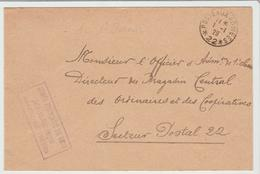 """DU 1 Er JANVIER 1929 / LSC De L'Armée Du Rhin """" Parc Télégraphique """" + Poste Aux Armées 22 TB - Marcophilie (Lettres)"""