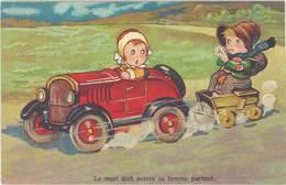 Cpa Fantaisie :  Le Mari Doit Suivre Sa Femme Partout ( Automobile ) - Fantaisies