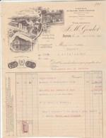 Facture Illustrée 26/8/1912 GOULOT Fabrique Couleurs Vernis Mastics  AUTUN Saône Et Loire - France