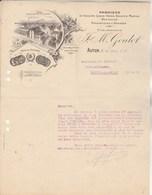 Facture Illustrée 29/6/1917 GOULOT Fabrique Couleurs Vernis Encaustiques Graisses AUTUN Saône Et Loire - France