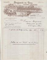Facture Illustrée 7/1/1926 PERRON Ex Sauzay Droguerie Couleurs Vernis  AUTUN Saône Et Loire - France