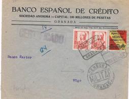 España. Carta Circulada De Granada A Vigo Por Correo Certificado Y Sello Local - 1931-Hoy: 2ª República - ... Juan Carlos I