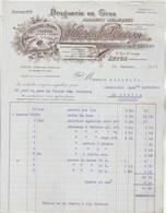 Facture Illustrée 24/1/1927 PERRON Ex Sauzay Droguerie Couleurs Vernis  AUTUN Saône Et Loire - France