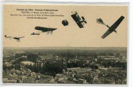 10 TROYES Aviation Aout 1910 Circuit Est Courses Aéroplanes AU DOOS  PUBLICITE Charcuterie MAILLARD Rommilly   /ES 2014 - Romilly-sur-Seine