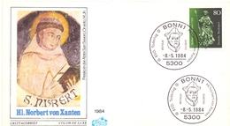GERMANY  HI. NORBERT VON XANTEN  (GEN190119) - FDC: Enveloppes