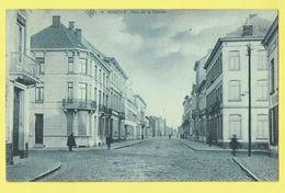 * Ninove (Oost Vlaanderen) * (SBP, Nr 4) Rue De La Station, Stationstraat, Straatzicht, Rare, Prachtkaart, Animée, TOP - Ninove