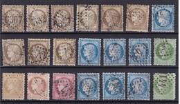 France : Ceres : 21 Timbres Oblitérés  Qualité Mixte  Paypal OK - 1871-1875 Cérès