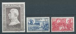 FRANCE 1944 . N°s 606 , 607 Et 608. Oblitérés. - France