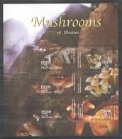 D448 BHUTAN PLANTS MUSHROOMS 1KB MNH - Champignons