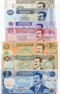 7 Note Set Saddam Hussein Money Iraq Dinar Banknotes Paper Money Set - Iraq