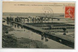 44 LE CROISIC Carte Rare Anim Parcs à Huitres Moules Palourdes Et Bigorneaux 1909 Timb  //DS 2014 - Le Croisic