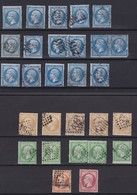 France : NAPOLEON  III :  Timbres Oblitérés  Qualité Mixte  Paypal OK - 1871-1875 Cérès