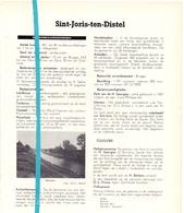Gemeente Sint Joris Ten Distel - Orig. Knipsels Uit Magazine 1960 - Geschiedenis - Folklore Nijverheid En Handel + Kaart - Non Classés