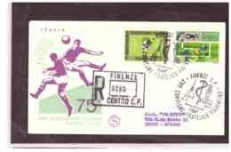 TEM5110   -   FIRENZE  19.5.1973   /   FDC   75° ANN. FEDERAZIONE ITALIANA GIOCO CALCIO - Calcio