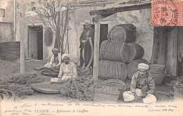 Etranger - Thème Cordonniers Vanniers / 02 - Tunisie - Fabricants De Couffins - Cartes Postales