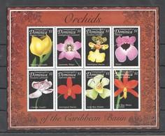 D458 DOMINICA FLORA NATURE FLOWERS ORCHIDS OF THE CARIBBEAN BASIN 1KB MNH - Orchidées