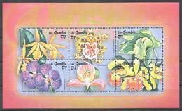 D459 GAMBIA FLORA NATURE FLOWERS ORCHIDS 1KB MNH - Orchidées