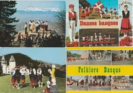 19  / 1/  294    - LOT  D. 13  C. P. M.   DU  FOLKLORE  BASQUE  - Toutes Scanées - Cartes Postales