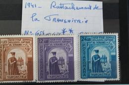 1941     -   654  à  656 *        RATTACHEMENT  DE  LA  TRANSNISTRIE   COTE   :   3,00€ - 1918-1948 Ferdinand, Charles II & Michael