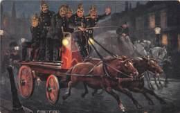 Etranger - Thème Pompiers / 04 - Fire ! Fire ! - Cartoline